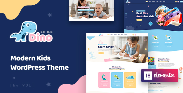 Littledino - Modern Kids WordPress Theme