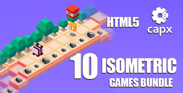 10 Isometric Games Bundle HTML5 + CAPX