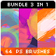 64 Circles Badges Stripes Watercolor Photoshop Brushes Bundle - GraphicRiver Item for Sale