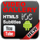 Responsive Video Gallery Youtube HTML5 & Subtitles - CodeCanyon Item for Sale