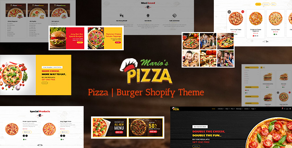 Marios Pizza | Burger Shopify Theme
