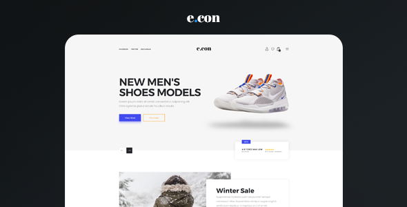 eCon - Modern & Clean  Responsive eCommerce Muse Template