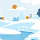 Winter Landscape with Lonely House or Chalet - GraphicRiver Item for Sale