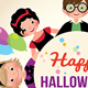 Group of Happy Children in a Festive Halloween Party - GraphicRiver Item for Sale
