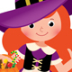 Little Girl in Halloween Witch Costume - GraphicRiver Item for Sale