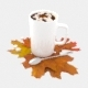 Cup of coffee with maple leaves - 3DOcean Item for Sale