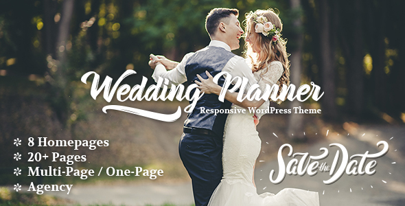 Wedding Planner - Responsive WordPress Theme