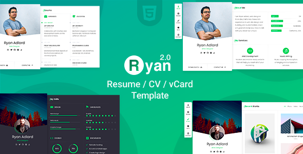 Ryan Resume/CV/vCard Template