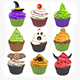 Halloween Cupcake Set - 3DOcean Item for Sale