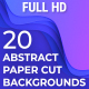 20 Abstract Paper Cut Backgrounds - VideoHive Item for Sale