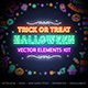 Halloween Neon Signs Set - GraphicRiver Item for Sale