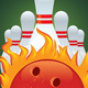 Ball and Bowling Pin for a Bowling Vector Stock Illustration - GraphicRiver Item for Sale