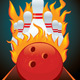 Vector Poster Ball and Pin for Bowling - GraphicRiver Item for Sale