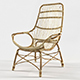 RETRO RATTAN HIGH BACK LOUNGE CHAIR by Palecek - 3DOcean Item for Sale