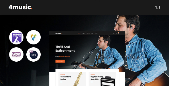 Fourmusic - Musical instruments Shop WooCommerce Theme