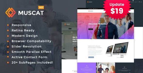 Muscat : Multipurpose WordPress Theme
