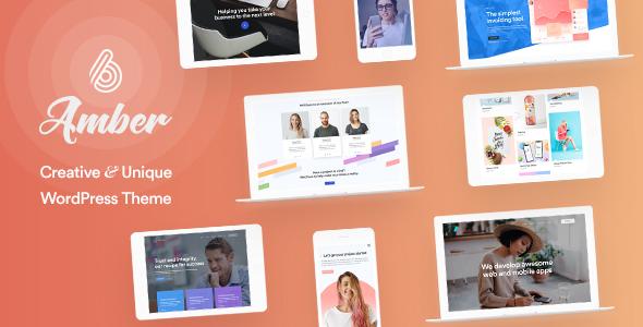 Amber Six   Creative and Multipurpose WordPress Theme