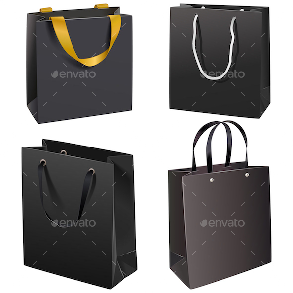 Vector Black Paper Bags