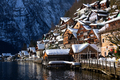 Architecture of the traditional wooden Hallstatt lakeside houses - PhotoDune Item for Sale