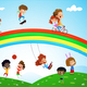 Illustration of Kids of Different Ethnicity Playing - GraphicRiver Item for Sale