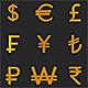 Currency Symbol 3D Model Set - 3DOcean Item for Sale