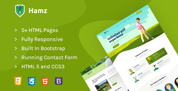 Hamz - Golf and Sport HTML template