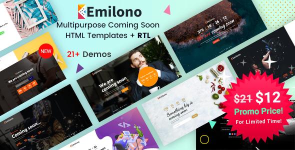 Emilono - Coming Soon HTML Templates