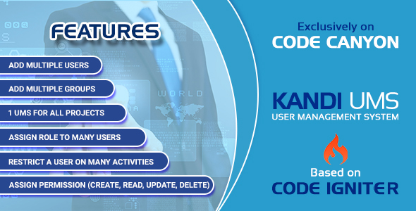 Kandi UMS- Powerfull User Management System