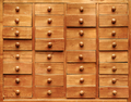 Wooden cabinet with opened drawers - PhotoDune Item for Sale