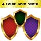 Colorful shield set - GraphicRiver Item for Sale