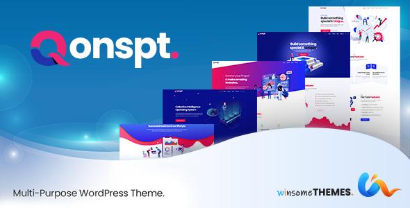 Qonspt - Isometric MultiPurpose WordPress Theme