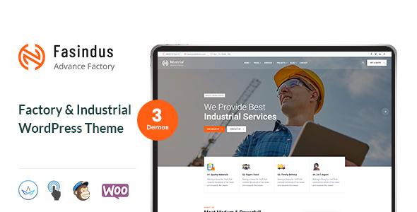 Industrial Fasindus - Industry Factory Theme