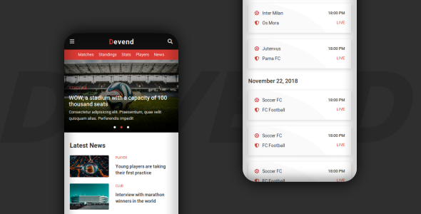 Soccer HTML Website Templates from ThemeForest on