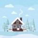 Flat Design Winter Snowy Landscape Scene - GraphicRiver Item for Sale