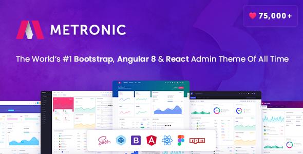 Metronic - Bootstrap 4, Angular 8, React Admin Dashboard Theme