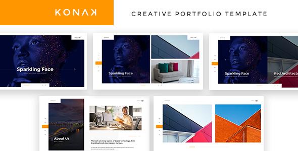 Konak - Creative Portfolio HTML Template