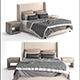 Belmont fabric bed by Restoration Hardware - 3DOcean Item for Sale