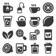 Tea Icons Set on White Background - GraphicRiver Item for Sale