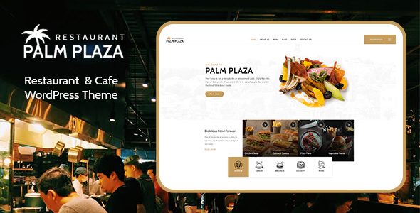 Palmplaza - Restaurant & Cafe WordPress Theme