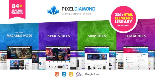 Pixel Diamond - HTML eSports Team, Sports Results & Gaming Magazine & Community