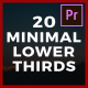 Smooth & Minimal Lower Thirds - VideoHive Item for Sale