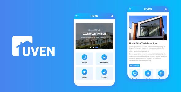 Uven - Real Estate Mobile Template