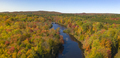 Oswegatche River Adirondak Park Panoramic Aerial View Autumn Season - PhotoDune Item for Sale