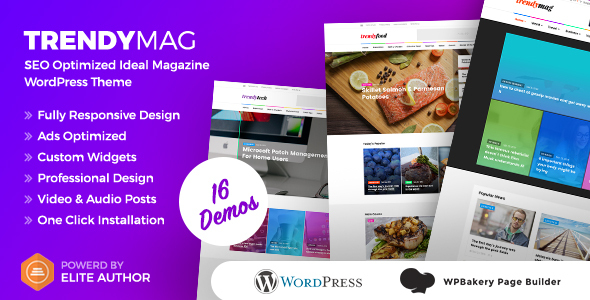 TrendyMag - WordPress News Magazine & Blog Theme