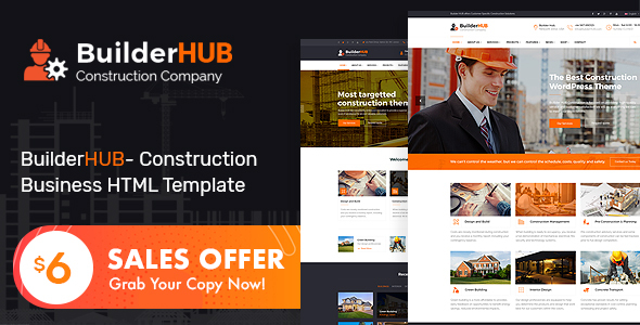 Builder HUB- Construction Business HTML Template