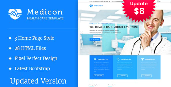 Medicon - Health and Medical HTML Template