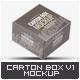 Carton Box Mock-Up v.1 - GraphicRiver Item for Sale