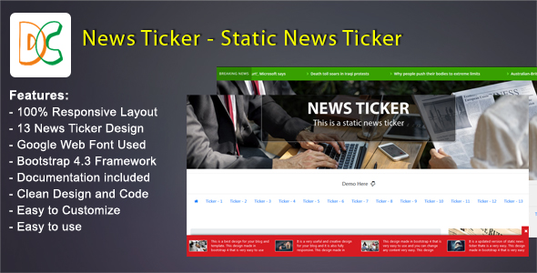 News Ticker - Static Breaking News