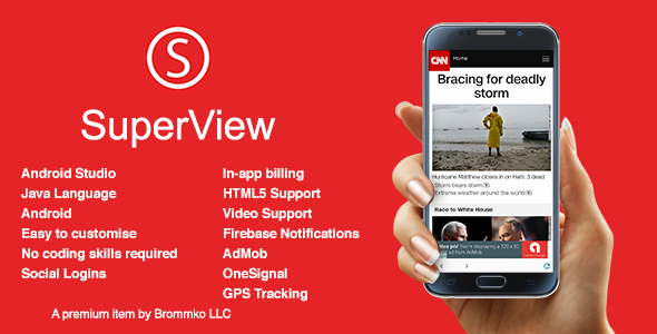 SuperView - WebView App for Android with Push Notification, AdMob, In-app Billing App Free Download #1 free download SuperView - WebView App for Android with Push Notification, AdMob, In-app Billing App Free Download #1 nulled SuperView - WebView App for Android with Push Notification, AdMob, In-app Billing App Free Download #1