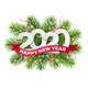 2020 Numbers on Christmas Tree Branches - GraphicRiver Item for Sale